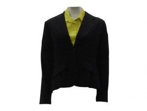 ladies-black-buttoned-jacket