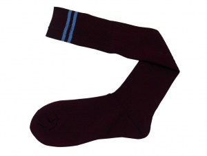 maroon-with-blue-stripe-socks