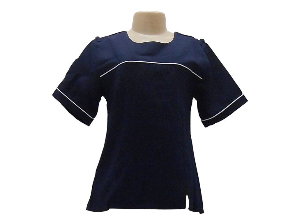SC 233a Navy and white Front Slit