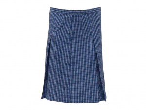 pleated-check-skirt